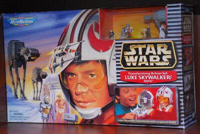 Star Wars Micro Machine Luke Skywalker/Hoth Transforming playset 1993 RARE MINT!