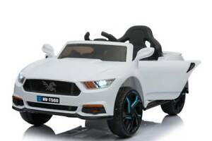 12v Ford Mustang style ride on car - White Greenacre Bankstown Area Preview