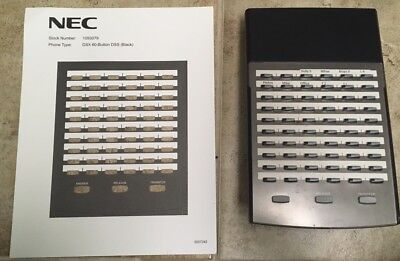 Nec Dsx 80160 60 Button Dss Console With 2 New Desi Sheets