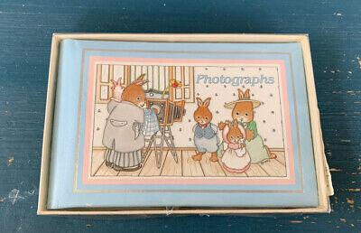 Vintage  Baby Photographs Album Brag Book CR Gibson Bunnies