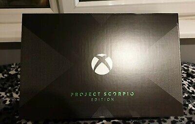 Microsoft Xbox One X Project Scorpio Edition 1TB Black Console. NEW Sealed.