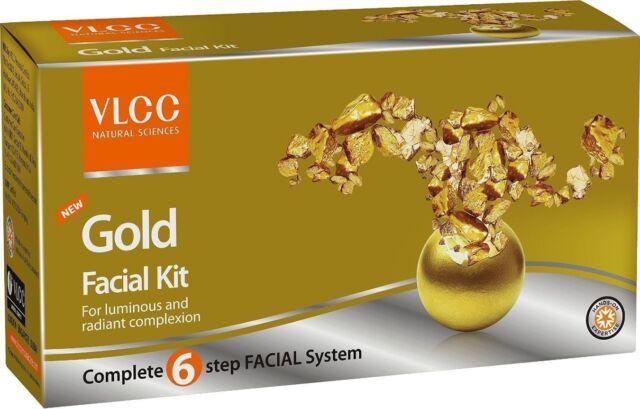 VLCC GOLD Facial Kit - 6 steps - Luminous & radiant & Natural Glow - 60grams