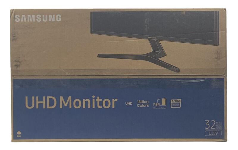 """Samsung UJ59 32"""" LED 4K UHD FreeSync Monitor LU32J590UQNXZA - Dark Gray"""