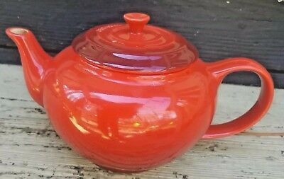 Le Creuset Stoneware Teapot Signature Orange 40 0unces