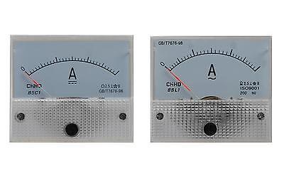 Amperemeter AC / DC Einbauinstrument Messinstrument Einbau analog Panel Meter (Ampere-meter)
