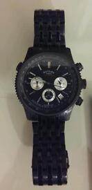 Black rotary chronospeed waterproof men's watch