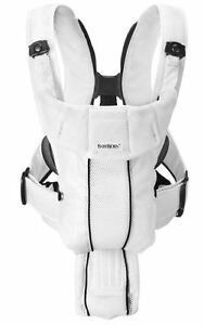 BabyBjorn-Baby-Bjorn-Carrier-Synergy-Breathable-3D-White-Mesh-NEW
