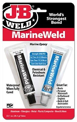 J-b Weld 8272 2oz Marine Weld Epoxy Cures Strong As Steel Is Water Weath Prf