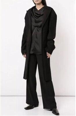 Authentic Vintage YOHJI YAMAMOTO Wool Deconstructed Women's Long Coat Size Small