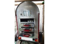 Gas Fired Jacket Potato Oven that Tows behind Vehicle - Ideal for Own Business