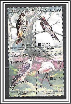 Libya #1023a-p Birds Complete Set Blocks of 4 MNH