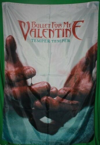 """Rare Bullet for my Valentine BFMV Temper Cloth Fabric Poster Flag 30"""" x 40"""" New"""