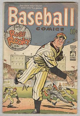Baseball Comics #1 Spring 1949 VG- Eisner cover and art