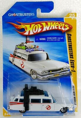 GHOSTBUSTERS ECTO-1 '59 Cadillac ~ HOT WHEELS 2010 No. 25/44 ON GOOD CARD