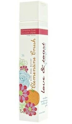 Love & Toast Clementine Crush Shower Creme 8.2-oz.~ With Shea Butter