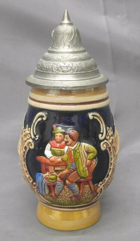 Old Vintage German Lidded Beer Stein West Germany
