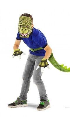 Kostüm Dinosaurier 3 teilig mit Maske Dino Karneval Jungen Fasching Verkleidung