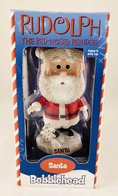 Rudolph The Red Nosed Reindeer Santa Bobblehead- Toysite 2002 New!