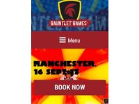 2x tickets for Manchester Gauntlet Games