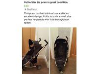 Petite star zia pram stroller