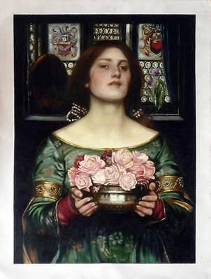 Ölbilder Ölgemälde Gemälde Waterhouse: Gather with the roses 60x80cm
