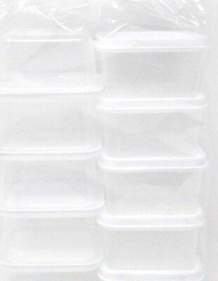 Container With Lid (Rectangle Container, With Lid, 10-Pack, 2.3 fl oz, small, food, craft,)