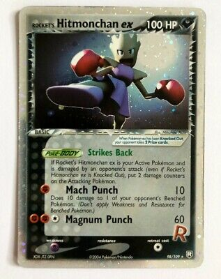 Hitmonchan EX Holo Rare EX Team Rocket Returns Pokemon Card (98/109) - NM