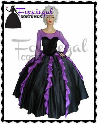 Sea Hag Costume (Sea Witch Ladies Fancy Dress Costume Halloween Ursula Inspired)