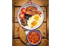 experienced breakfast/brunch line chef wanted for Finsbury Park Cafe