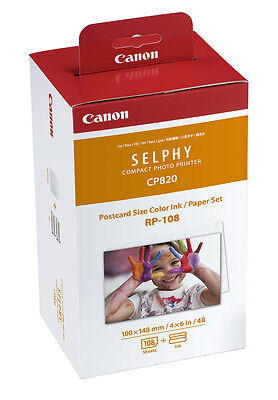 Canon RP-108 Papier + Farbband ! 108 Bilder in 10x15 f. Selphy CP-820 910 1200