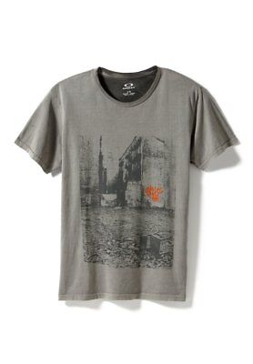 Enzym Wash Tee (Oakley Men's New York Alley Tee Enzyme Wash T-Shirt Stone Gray Size Large NWT)
