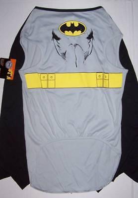 NWT DC Comics Batman dog costume Small S gray/black attached cape - Dog Batman Cape