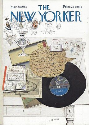 Cover Only  The New Yorker Magazine   Steinberg   March 20 1965   Record Aida