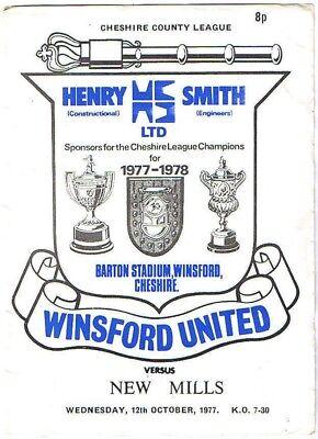 Winsford United v New Mills 1977/8