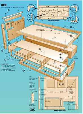 WOODWORK PLANS 14,000 on DVD PRINTABLE! Sheds, Toys, Beds, Boats, Benches etc.
