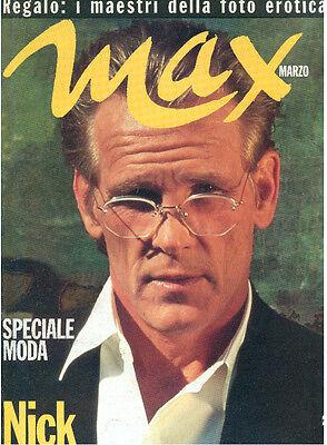 MAX MARZO 1992 ANNO VIII NUM. 3 NICK NOLTE + POSTER SPECIALE MODA + FOTO EROTICA