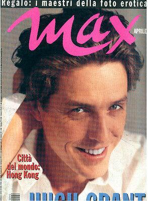 MAX APRILE 1995 ANNO XI NUM. 4 HUGH GRANT ITALIAN FASHION MAGAZINE RIVISTA