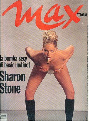 MAX OTTOBRE 1992 ANNO VIII NUM. 10 SHARON STONE POSTER ITALIAN FASHION MAGAZINE