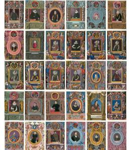 LOT 30 pcs Vintage Retro Middle Ages Europe Nobility Portrait Postcards Bulk Set
