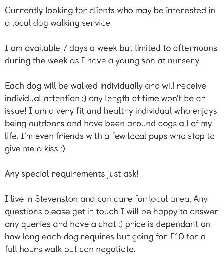 Dog Walker Available In Stevenston North Ayrshire Gumtree