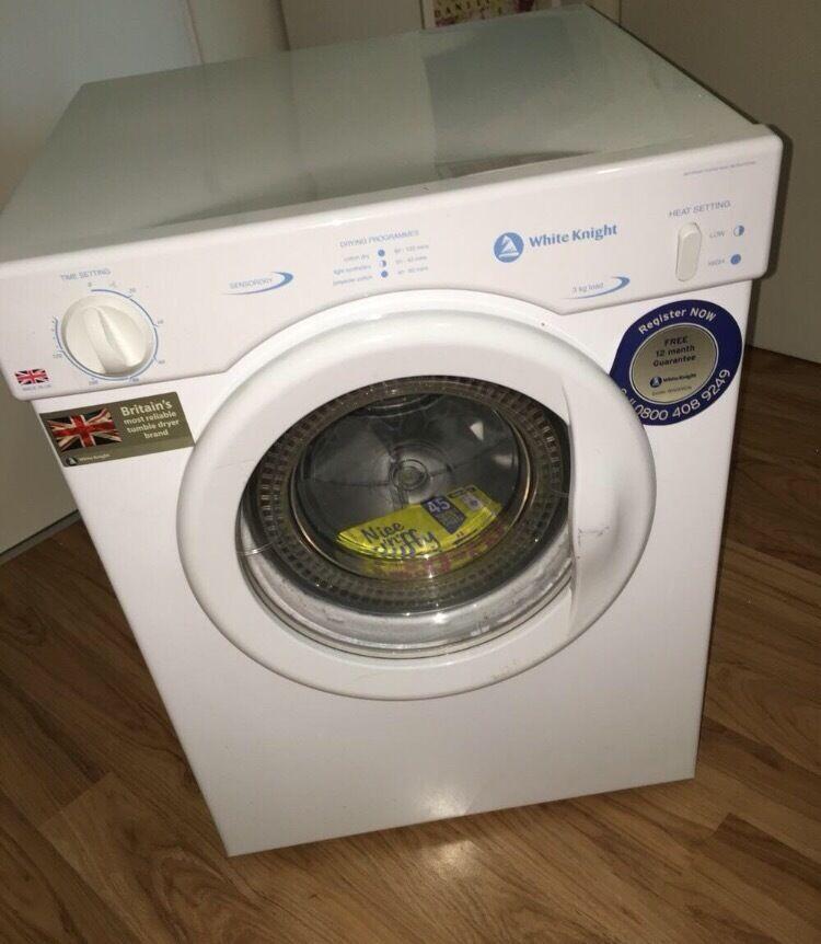 white knight compact tumble dryer c372wv in fulham. Black Bedroom Furniture Sets. Home Design Ideas