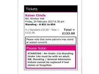 4x Kaiser chiefs tickets