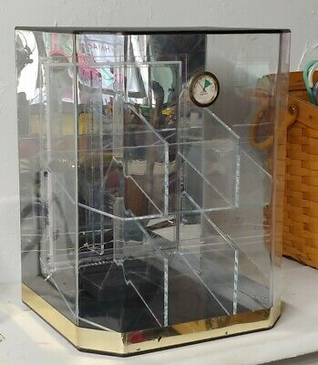 Acrylic Counter Top Display Case 12 X 10 X 15.5locking Showcase Hygrometer
