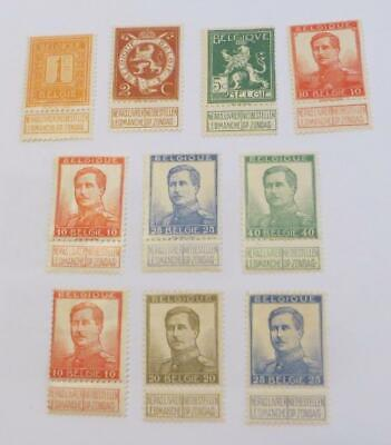 Belgium 1912 - 14 Arms and King Albert small collection unused