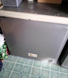 Chest freezer in silver