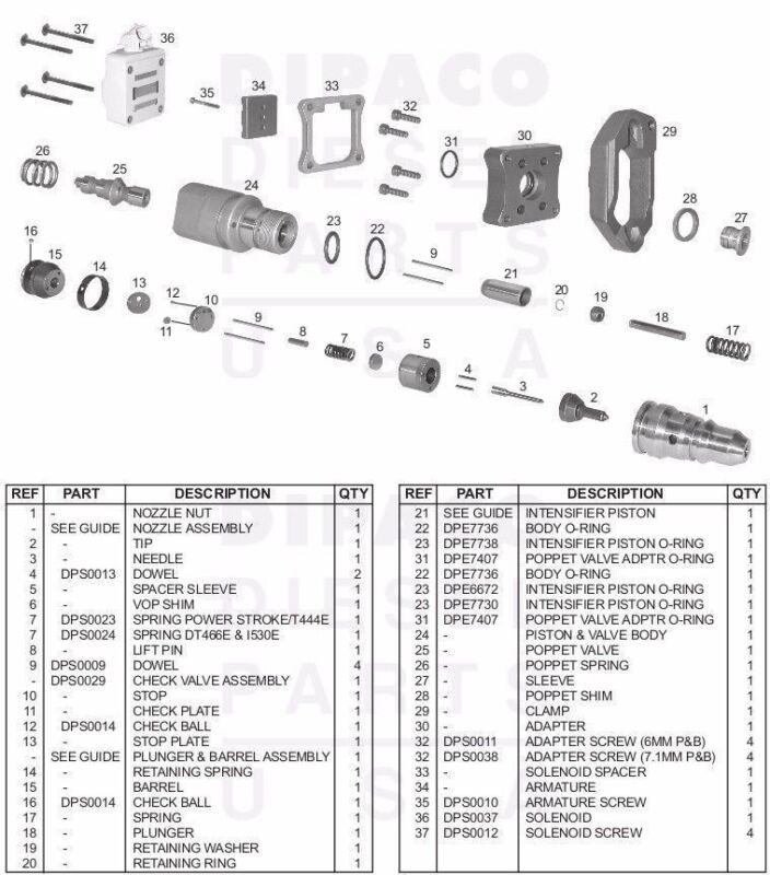 7 3L POWERSTROKE injector rebuild KIT ext & int seals ,springs, plus shims    Shopping Bin - Search eBay faster