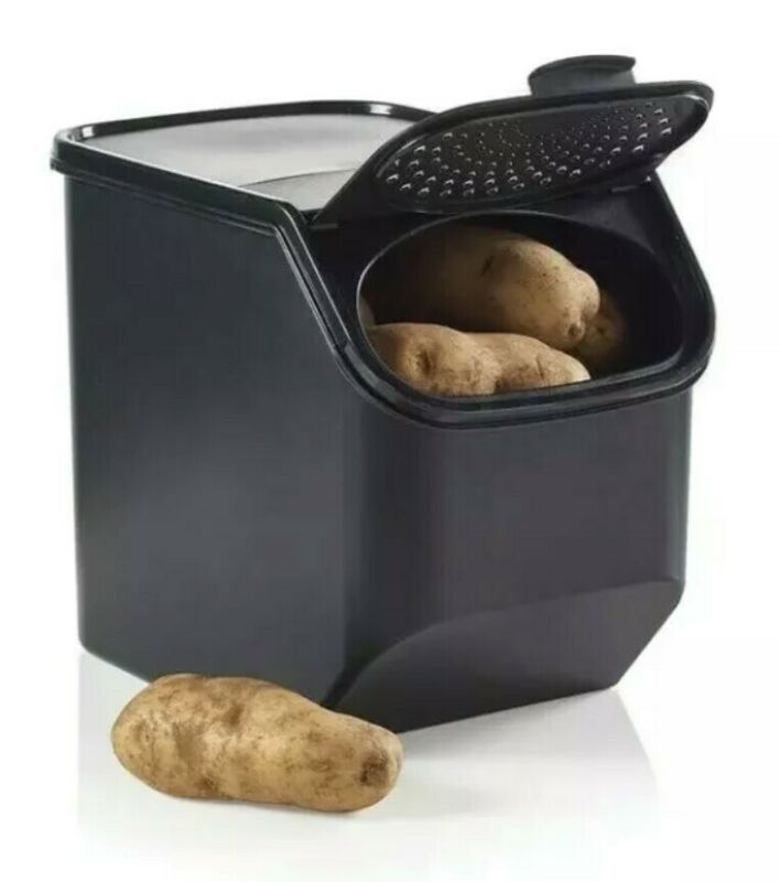 "Sale! Tupperware Potato Keeper ""Smart Mate"" Color Black! 5.5 Qt. New"