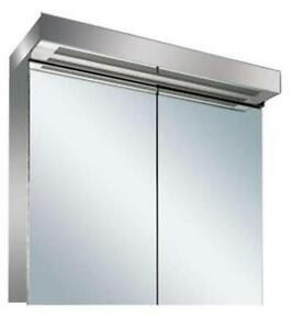 new led illuminated bathroom mirror cabinet with on off sensor shaver