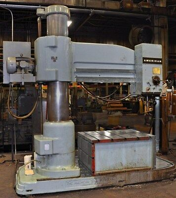 American 7 X 19 Radial Arm Drill With Giant 48 X 60 Box Table
