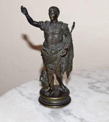 Rare Roman Emperor Caesar Augustus Prima Porta Armor Grand Tour Bronze Statue